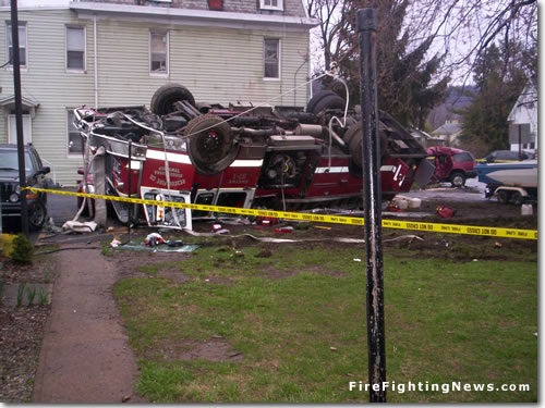 Pennsylvania Fire Engine Accident – Rollover Overturn