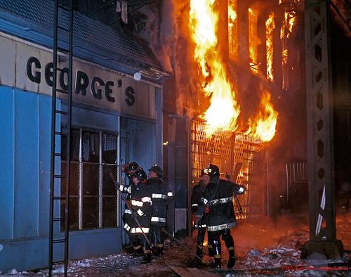 Vintage FDNY - 1978 Brooklyn Fulton Street 3 Alarm Fire