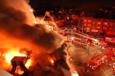 5 Alarm FDNY Queens Fire Photo
